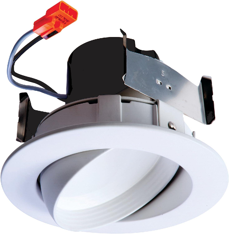 "HALO 4/"" LED Recessed RETROFIT Eyeball Trim Dimmable 3000k 35° Tilt Light gimbal"