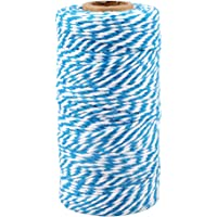100 m katoenen koord 2 mm katoenen koord voor doe-het-zelvers Blau und weiß
