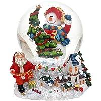 Globos de nieve de navidad