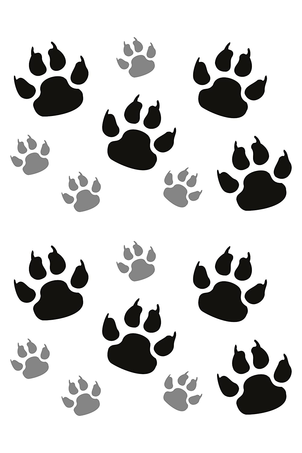 Sticker dog´ s paw 300 x 200 mm black/silver carstyling XXL