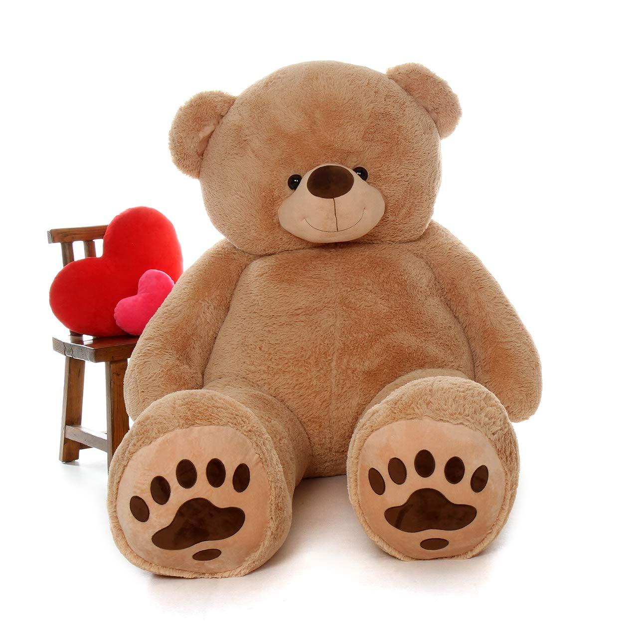 f84b196580a Amazon.com  Giant Teddy Brand - Premium Quality Giant Stuffed Teddy Bear  (Amber Tan