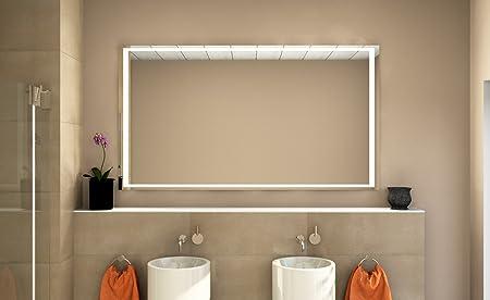 Badezimmerspiegel Hohe.Led Badezimmerspiegel Badspiegel Wandspiegel Lichtspiegel Stella Breite 110 X Hohe 70 Cm Amazon De Kuche Haushalt