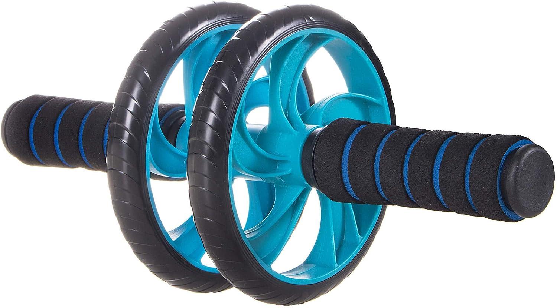 2 ruote con manico SPRINGOS AB Roller con impugnature confortevoli Attrezzo per addominali e braccia