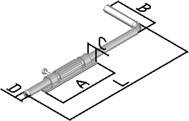 Verrou baionnette galvanis/é L500 Largeur 100 /Ø16mm