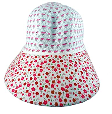 d465d9dfff2 bilAnca ® Branded Fashionable Wide Brim Cotton Summer Sun Protection  Stylish Hat for Women Ladies Girls (Pink-Small Dot)  Amazon.in  Clothing    Accessories