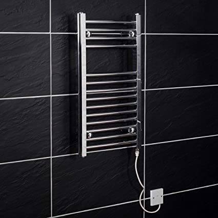 Electric Heated Towel Rail Warmer Radiator - Chrome - 700 x 400 - 150W  Manual