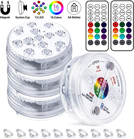 LED SUBMERSIBLE LIGHTS 08 COLORS SOLD IN PACKS OF 12