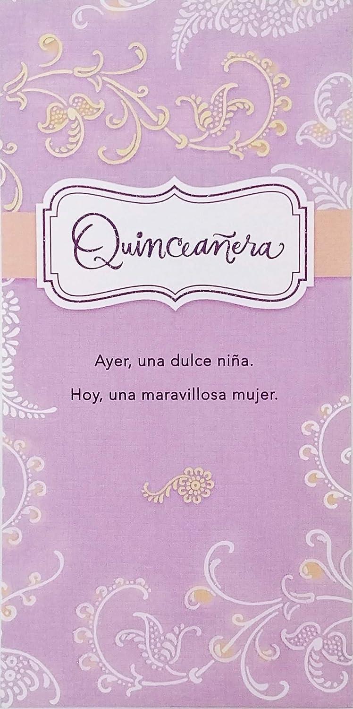 Amazon.com : Quinceañera Money Check Greeting Card in Spanish