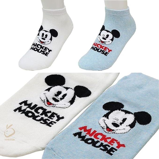 Small luxury socks factory Calcetines de Corte bajo Calcetines de Mickey Mouse para niñas Pack de 2 Metro: Amazon.es: Ropa y accesorios