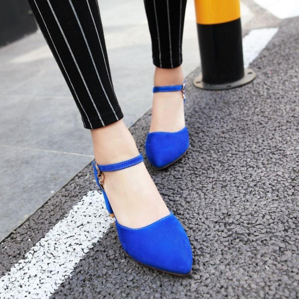 MisaKinsa Women Block Heel DOrsay Sandals Ankle Strap Shoes