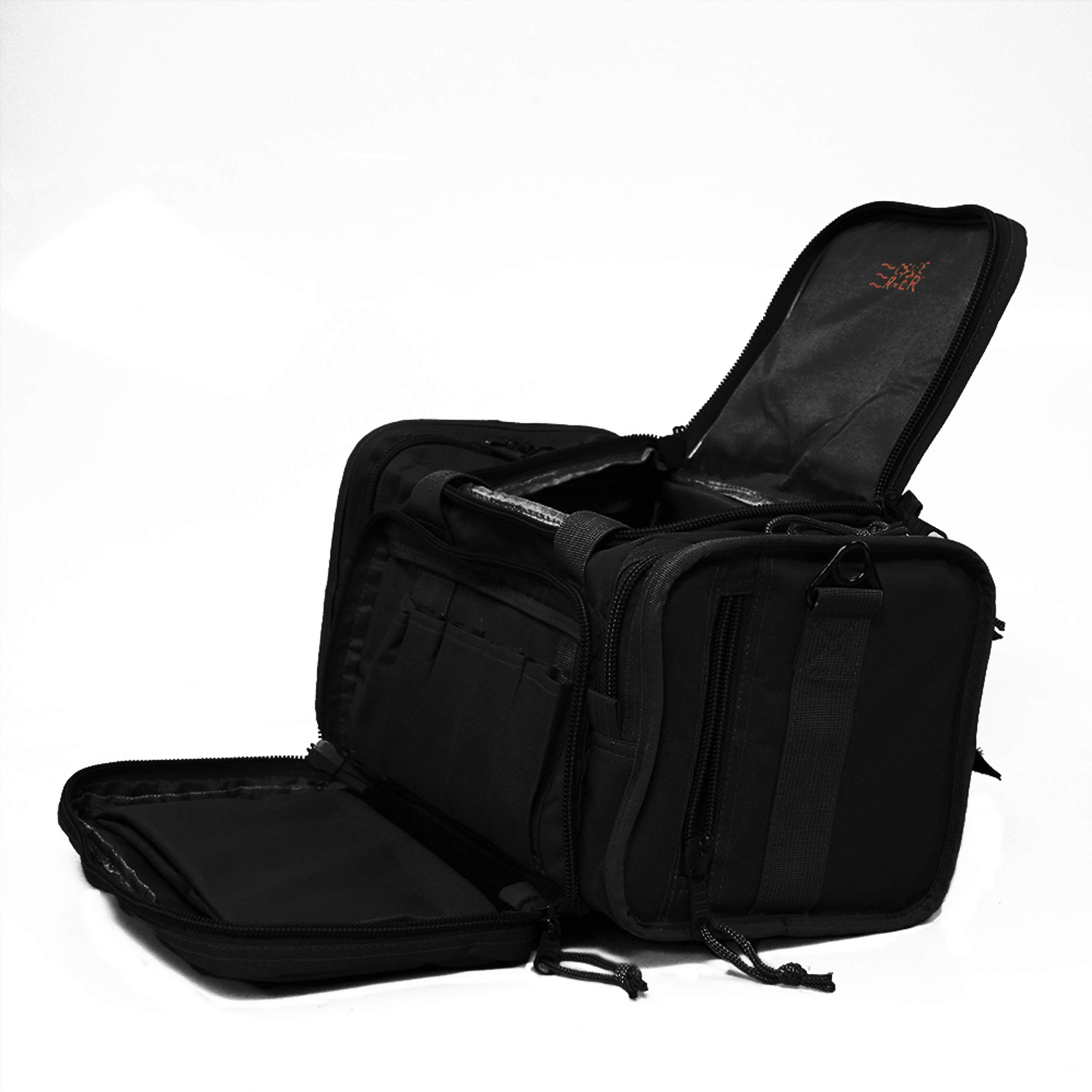 Osage River Tactical Shooting Gun Range Bag, Black , Light Duty (13.5 x 10.5 x 7.5) Inches by Osage River