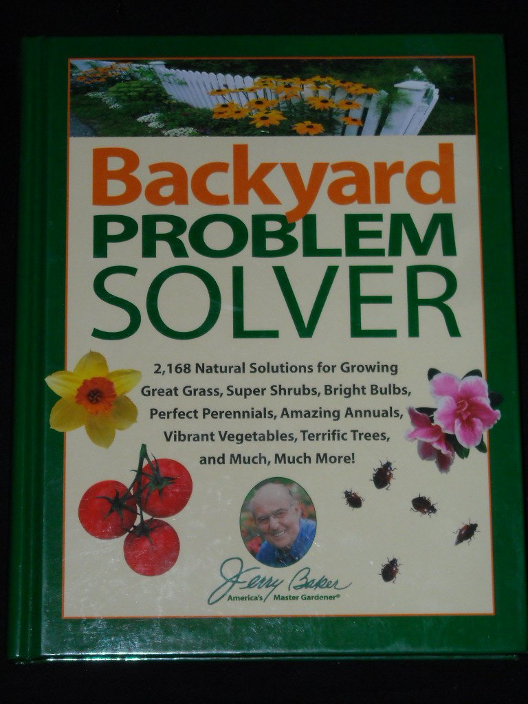 backyard problem solver jerry baker com books