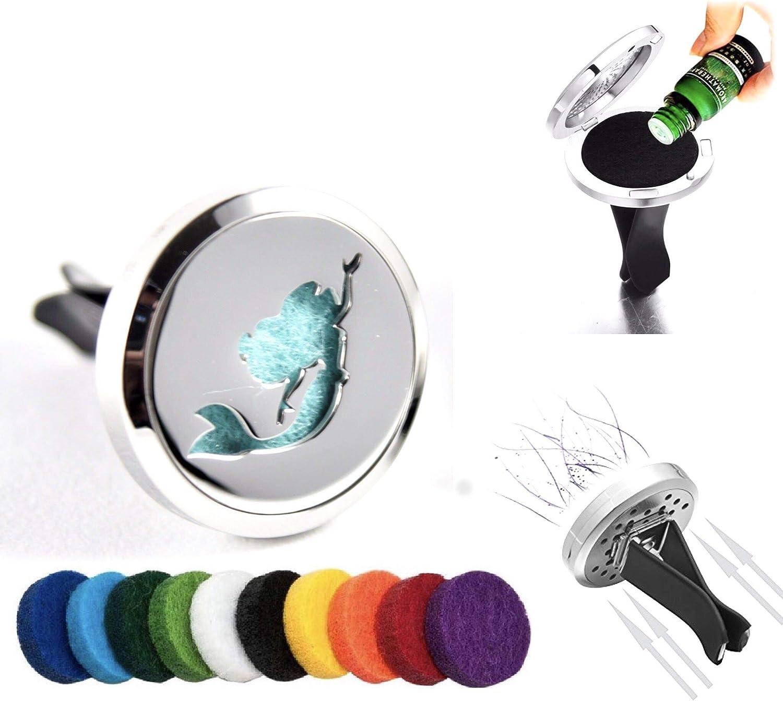 FIKA Ariel Little Mermaid - Ambientador para Coche con Clip para Rejilla de ventilación, aceites Esenciales de aromaterapia, Ideal para Almohadillas de Viaje Incluidas: Amazon.es: Hogar