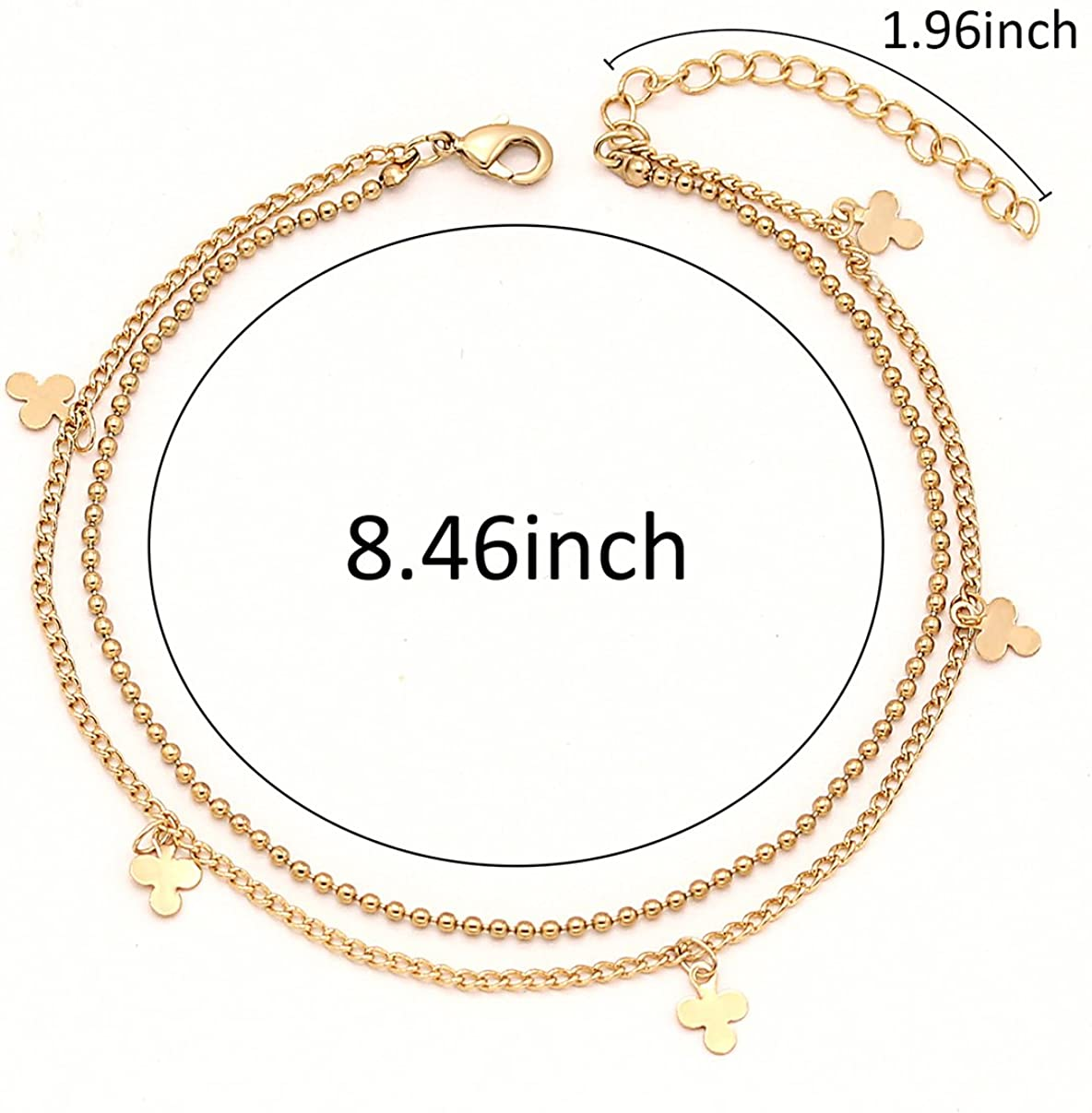 Mocya Infinity Anklet Foot Chain Beach Jewelry Bohemian Anklet Layer Anklet Woman Jewelry