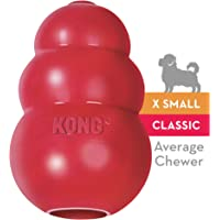 KONG - Classic Dog Toy - Durable Natural Rubber - Fun to Chew, Chase and Fetch X-Small red 035585125008