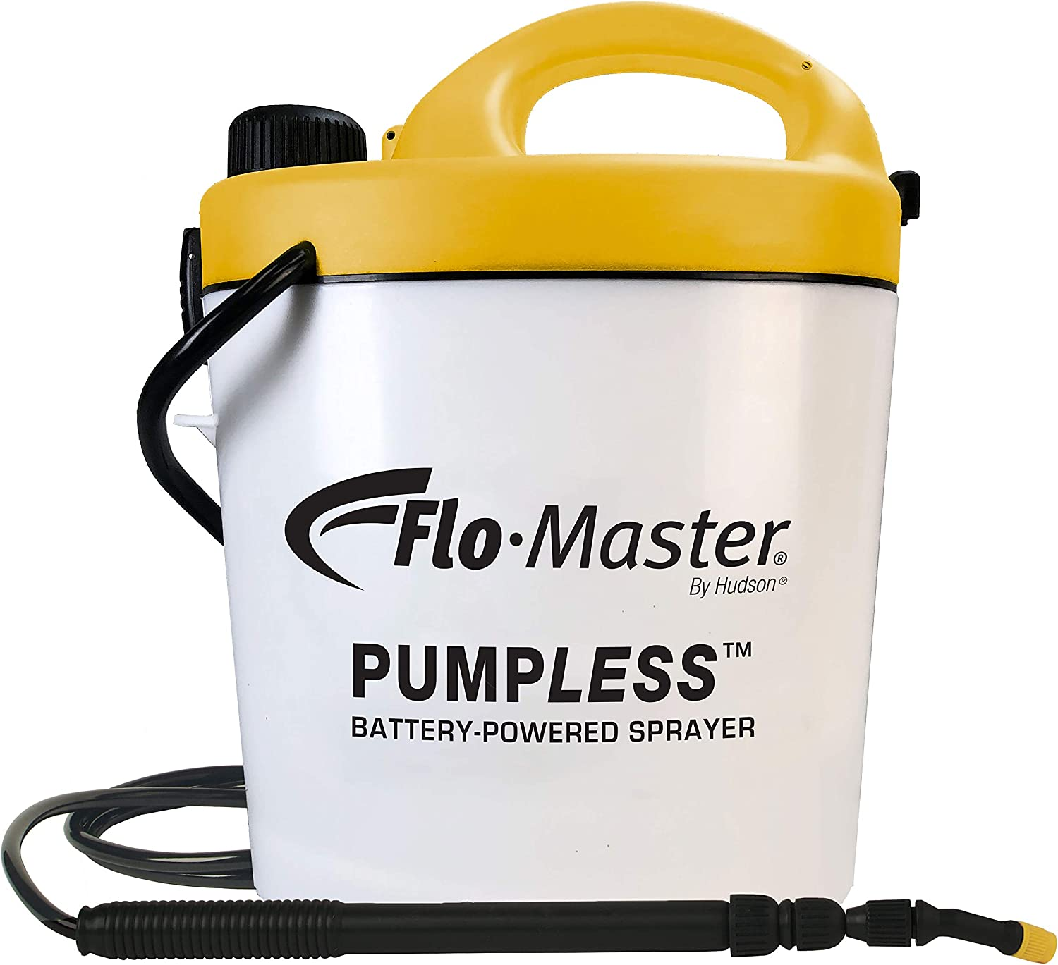 Flo-Master by Hudson 5BPL Pumpless 1.3 Gallon Battery Powered Sprayer, White