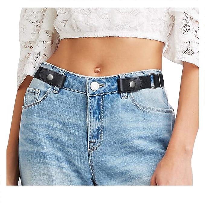 Amazon.com: Cinturón elástico para pantalones vaqueros sin ...