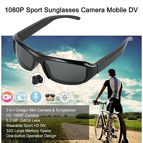 BJESSENCE 1 PC T3 Cámara de gafas de sol HD 1080P Cámara usable Gafas de sol ...