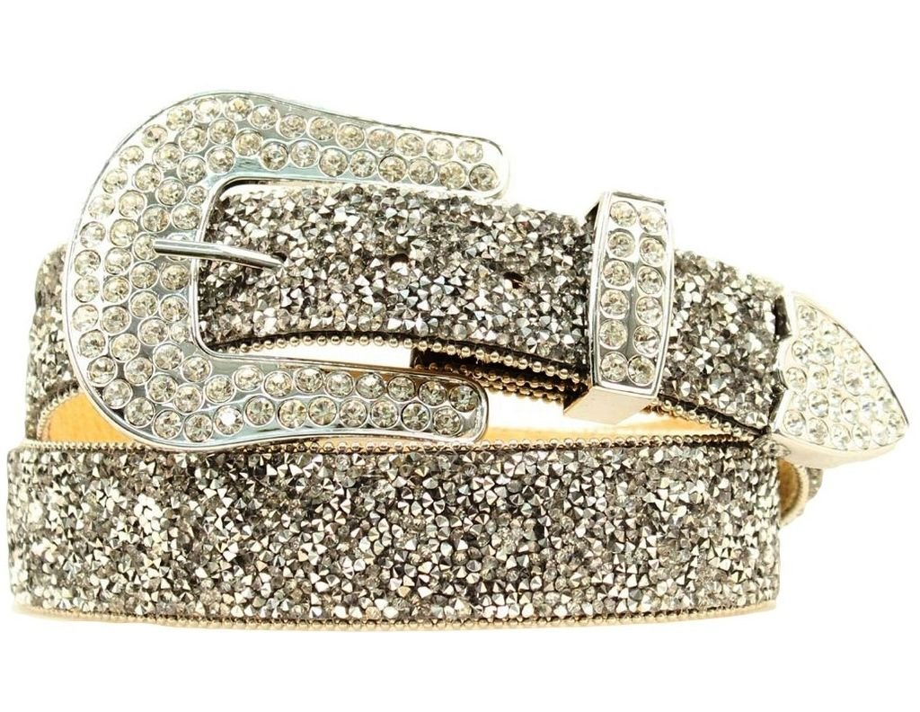 Ariat Women's Clear Crystal Chip Belt,Black,XL by Ariat (Image #1)