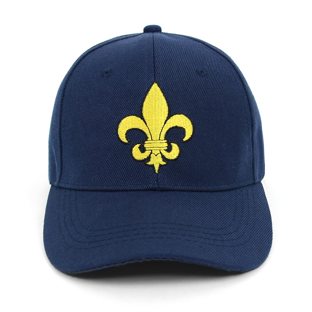 Yellow Fleur-de-lis Embroidered Baseball Cap (Black) at Amazon Men s  Clothing store  34a03f2bd8fd