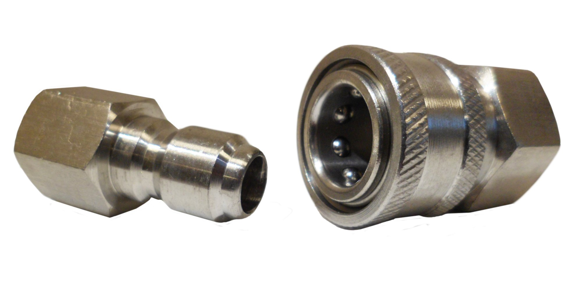 Ultimate Washer 18709 3/8-Inch Stainless Steel Quick Connect Pressure Washer Adapter Set, Max Pressure 5000 PSI Rating