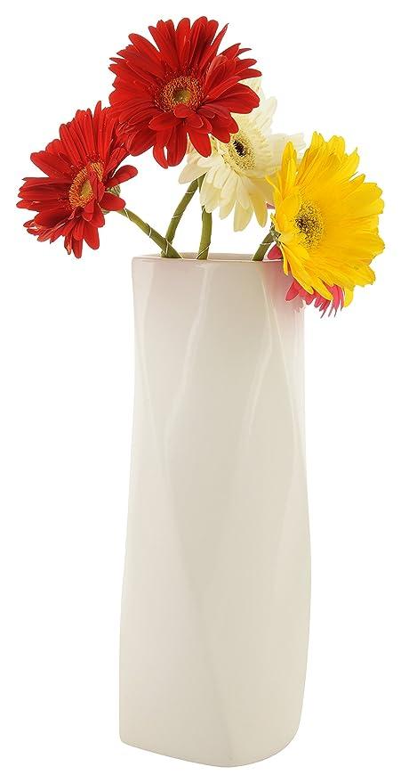 314 & Woodenclave White Home Decor Ceramic Flower Vase Pot