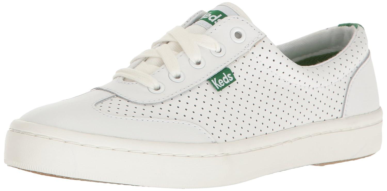 Keds Women's Tournament Retro Court Perf Leather Fashion Sneaker B01JLJ97UO 5.5 B(M) US|White/Green
