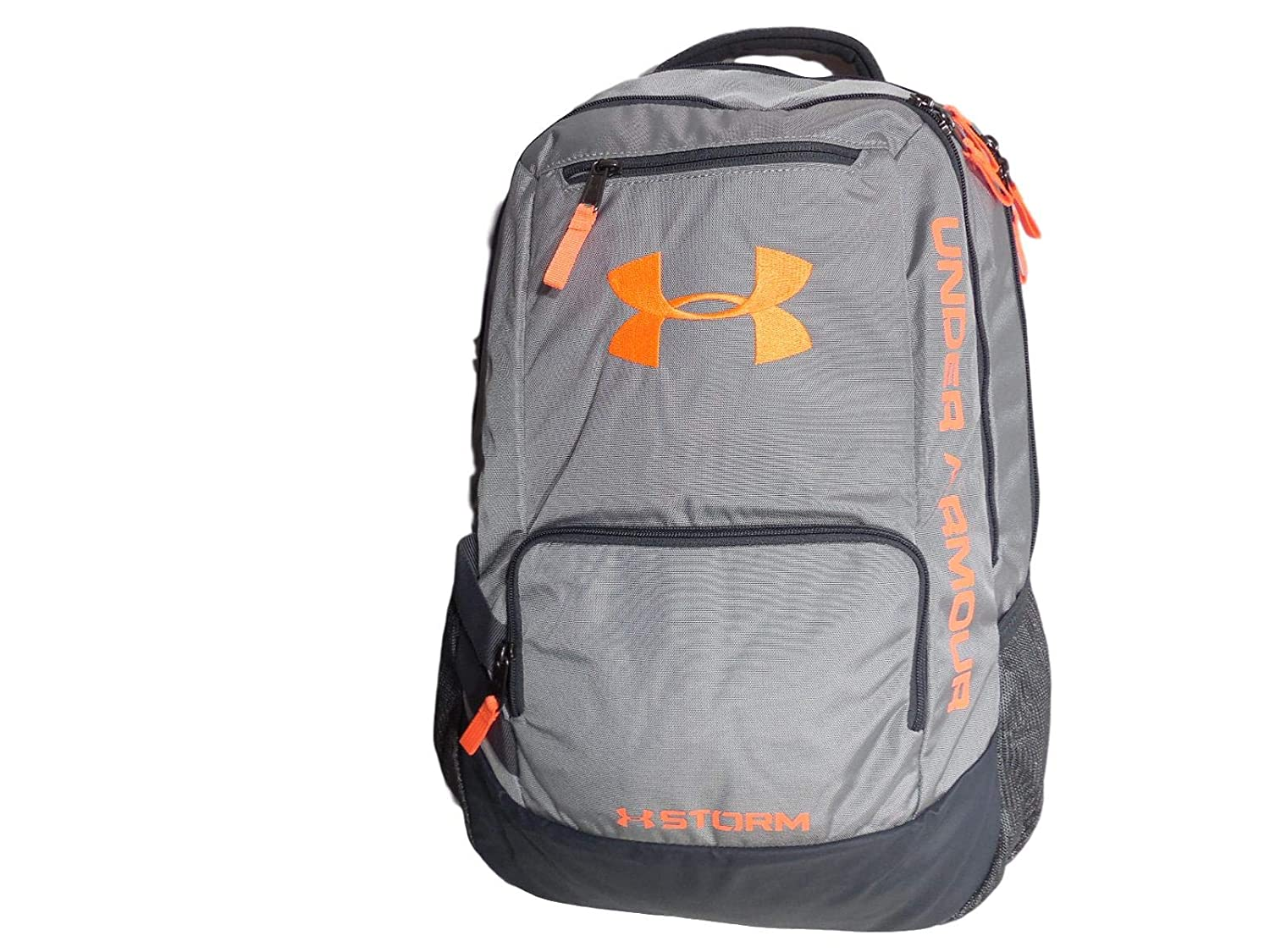 Under Armour Unisex Hustle II 15 Gray/Orange Laptop Backpack Student Bag