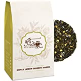 The Indian Chai - Honey Lemon Ginseng Green Tea 100g | Treats Common Cold | Reduces Body Fat | Supports Weight Loss | Nitrogen Filled, Vacuum Sealed for Freshness |