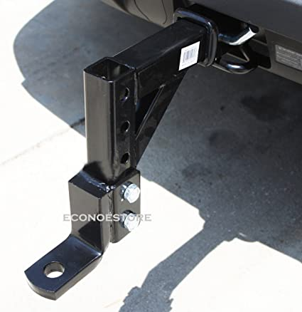 Adjustable Hitch Receiver >> Amazon Com Heavy Duty 10 Adjustable Trailer Drop Hitch Ball Mount