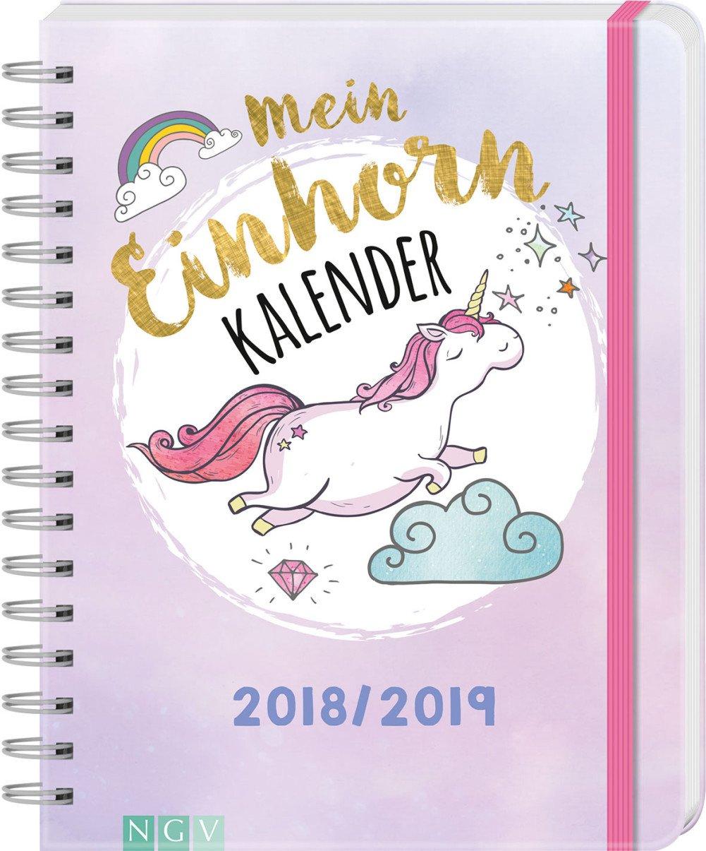 Mein Einhornkalender 2018/2019: Mit 150 Stickern!
