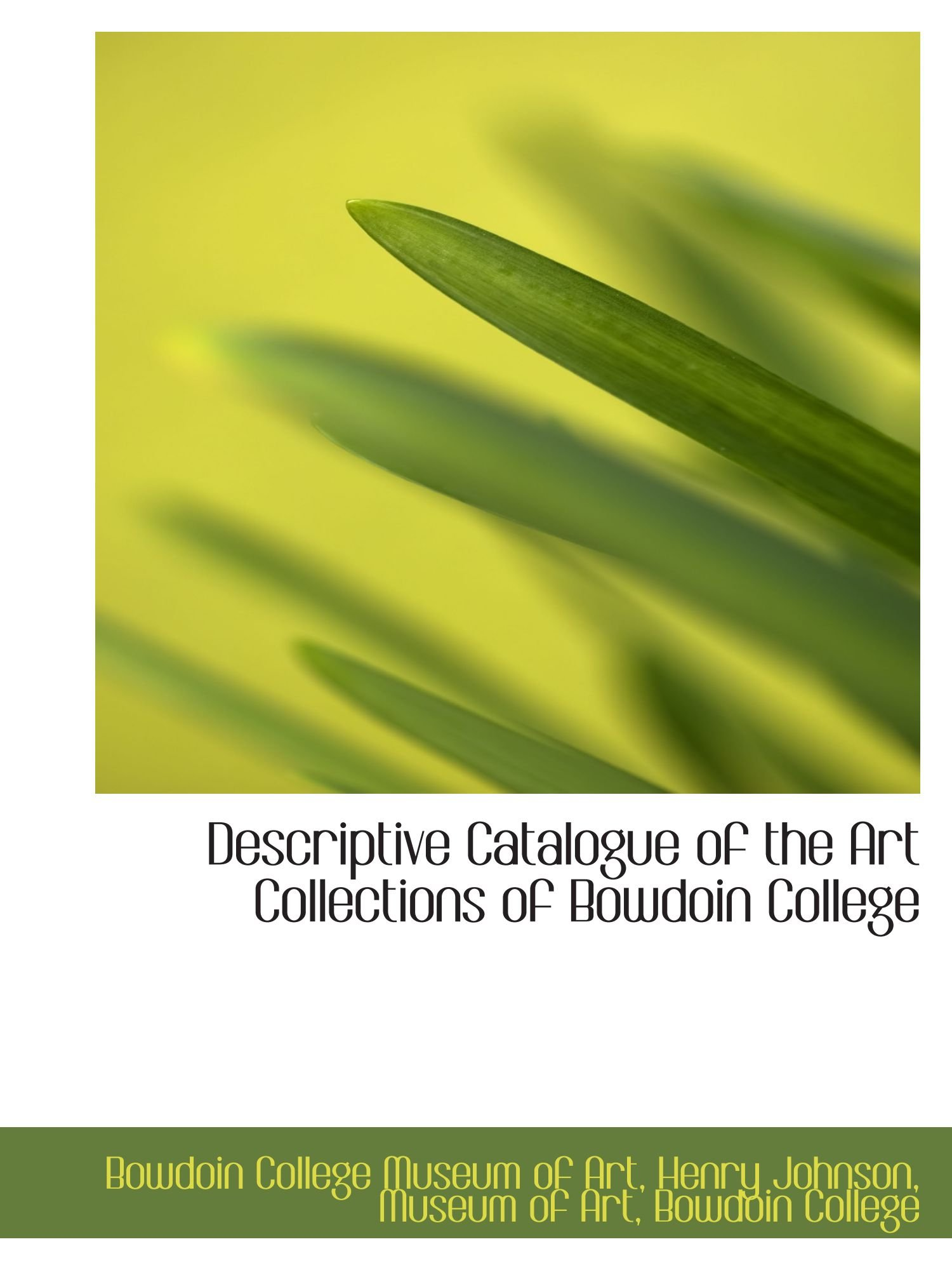 Read Online Descriptive Catalogue of the Art Collections of Bowdoin College ebook