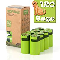 BLSPE Dog poop bags , (120 Counts) Extra Thick and Strong Poop Bags for Doggies Guaranteed Leak-Proof, Fresh Scented Dog…