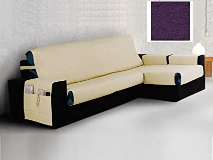 textil-home Funda Cubre Sofá Chaise Longue BANES, Brazo ...