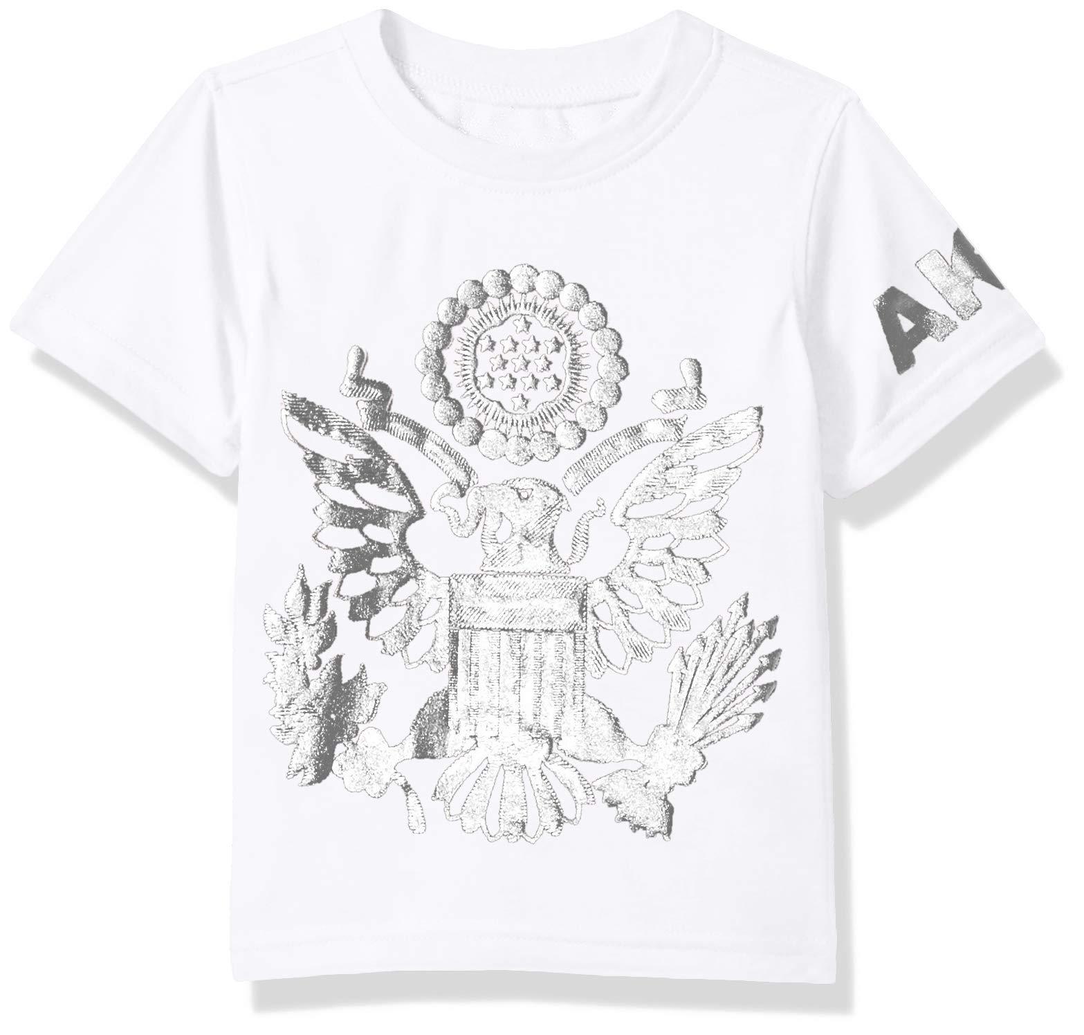 Akademiks Kids Boys' Toddler Short Sleeve Fashion Tee Shirt, Bird White 3T