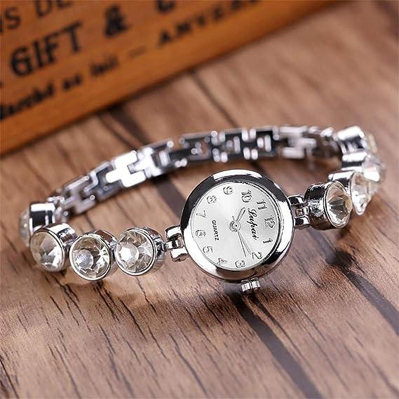 Amazon.com : naivety Vente chaude De Mode De Luxe Femmes Montres Femmes Bracelet Montre Watch reloj Mujer Pulsera Ladies Watch(Silver, ...