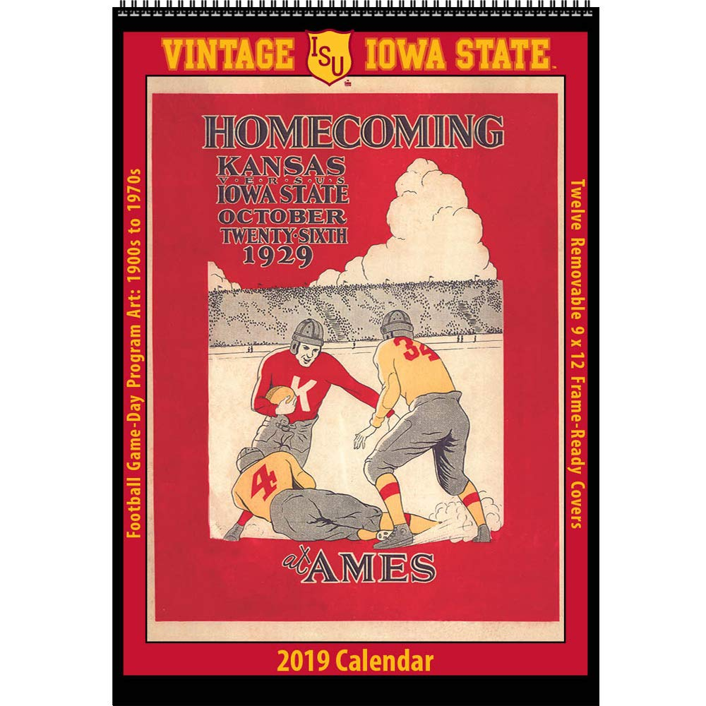 Iowa State 2019 Calendar Amazon.: Vintage Iowa State Cyclones 2019 College Football