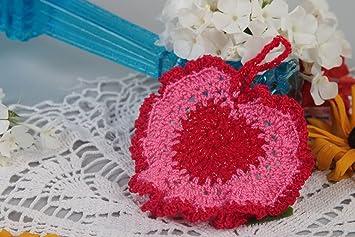 Agarradera al crochet hecha a mano accesorio para cocina textil para el hogar: Amazon.es: Hogar
