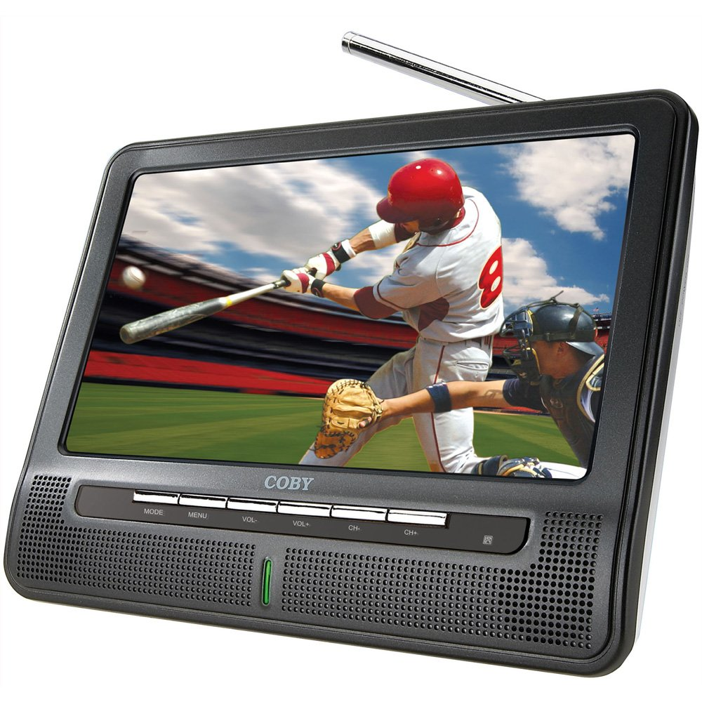 Amazon.com: Coby TFTV1091 10-Inch Portable Widescreen LCD TV with ATSC/NTSC  Tuner and Integrated Telescopic Antenna (Black): Electronics