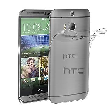ivoler Funda Carcasa Gel Transparente para HTC One M8, Ultra Fina 0,33mm, Silicona TPU de Alta Resistencia y Flexibilidad