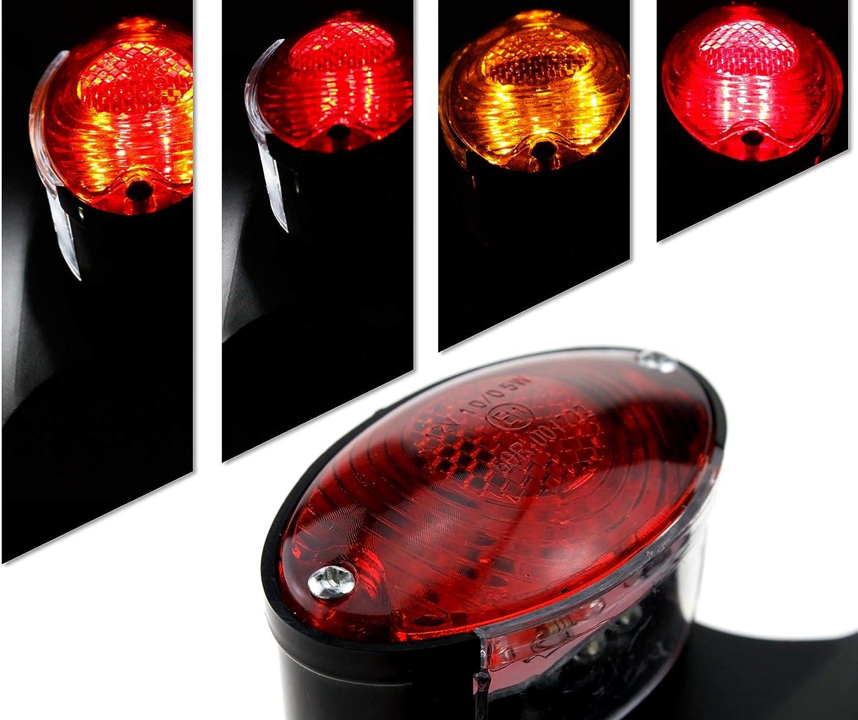 Feu arri/ère /à LED unique pour moto avec plaque dimmatriculation