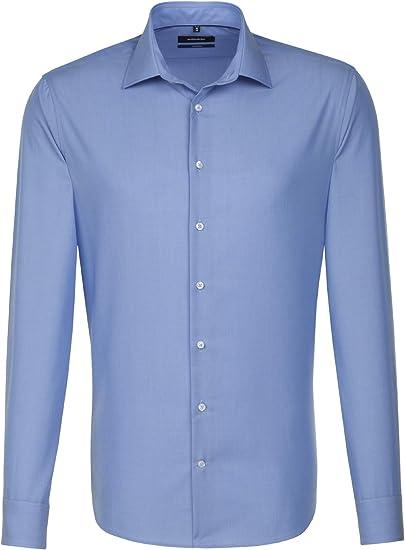Langarm Seidensticker Herren Business Hemd Passform Slim Fit Gestreiftes Hemd mit hohem Tragekomfort und einem Kent-Kragen 100/% Baumwolle