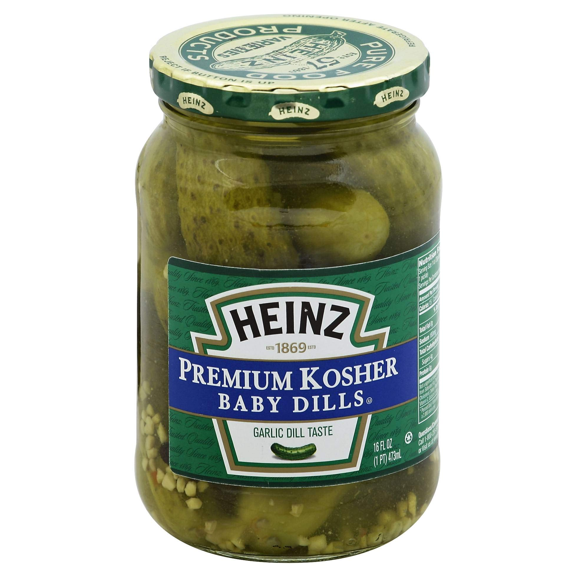 Kosher Baby Dill Pickle , 16 Ounce -- 12 Case