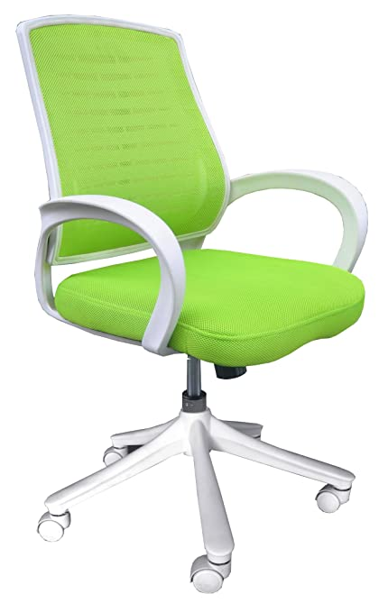 Comfort Products 60 51840006 Iona Mesh Chair, Apple Green With White Frame