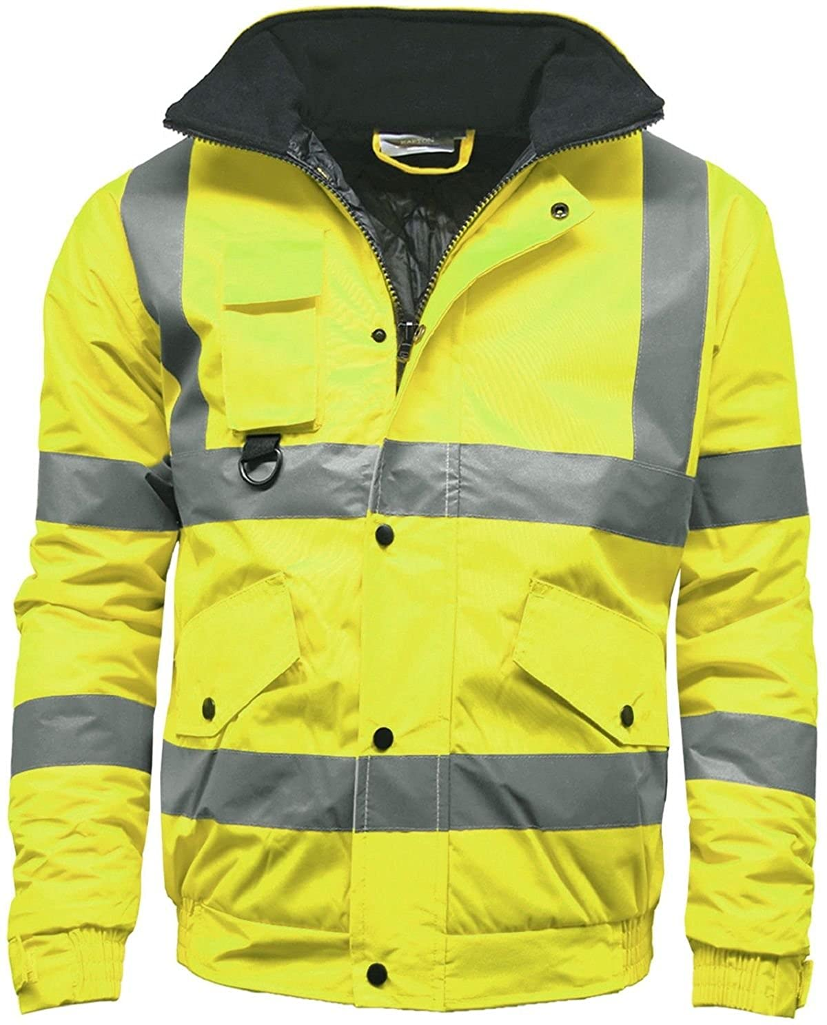 3c8432ef0eb Amazon.com  STS Mens Waterproof Two Tone Bomber Jacket Hi Vis Visibility  Work Wear Hi Vis Standard  Clothing