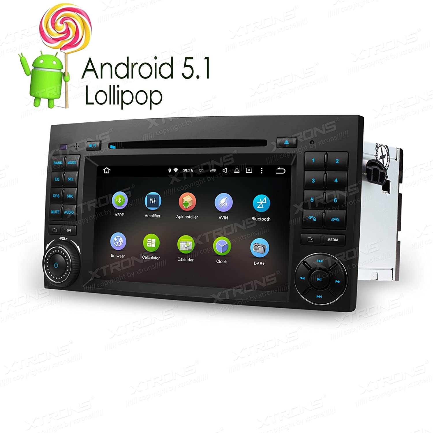 ... Car Stereo Radio DVD Player with Screen Mirroring Function & OBD2  Built-in DAB+ Tuner for Mercedes-Benz Sprinter B-W245: Cell Phones &  Accessories