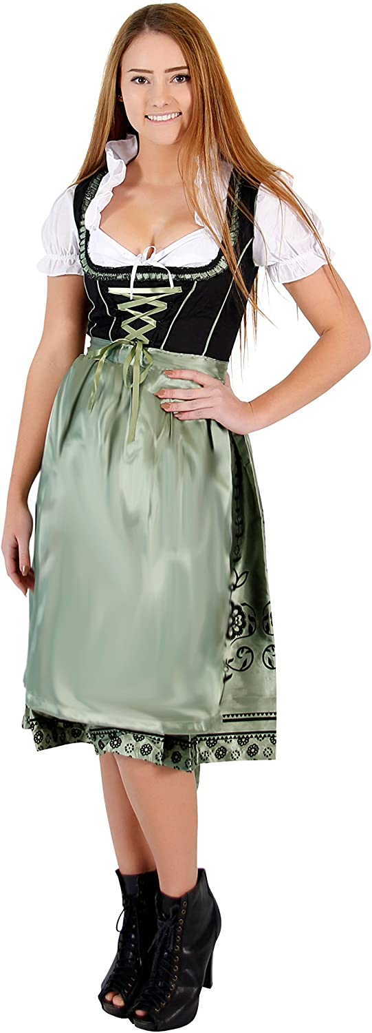 Oktoberfest Drindl Bavarian German Beer Girl Maid Costume Dress