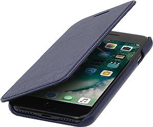 StilGut Book Type sans Clip, Housse iPhone 8 Plus & iPhone 7 Plus en Cuir. Etui de Protection à Ouverture latérale pour iPhone 8 Plus & iPhone 7 Plus (5.5 Pouces)