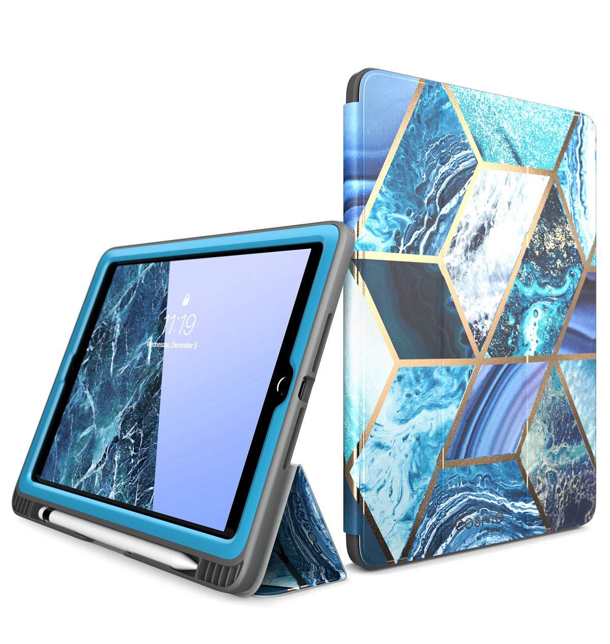 Funda Para Apple iPad 6 Generacion 9.7' - Marmolado Azul