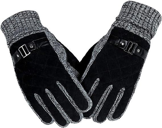 Epinki Winter Gloves Velvet Gloves Men Winter Keep Warm Velvet Thicken Touch Screen Finger Gloves